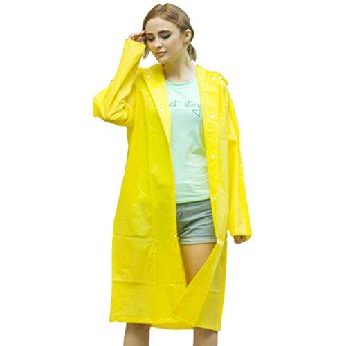 Chubasquero amarillo impermeable tipo poncho