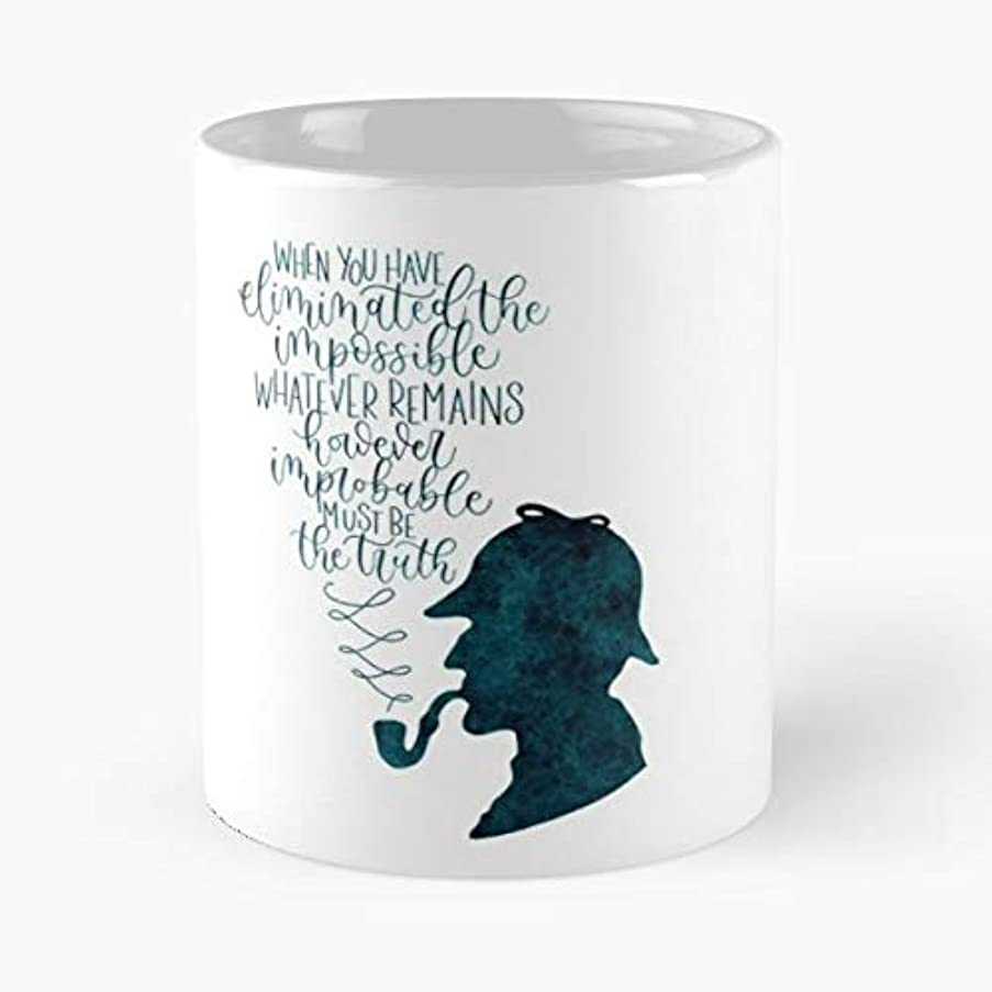 Sherlock Homes Quotes Books - White -coffee Mug- Unique Birthday Gift-the Best Gift For Holidays- 11 Oz.