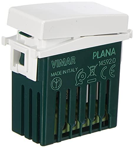 Vimar 14592 Plana Deviatore connesso VIEW Wireless con uscita a relè, per lampade, trasformatori e controllo remoto con doppia tecnologia Bluetooth 5.0 e Zigbee 3.0