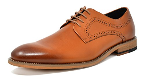 Bruno Marc Men's Classic Dress Shoes Formal Casual Lace up Wingtip Leather Oxford Brown Size 6.5 M US Waltz-2