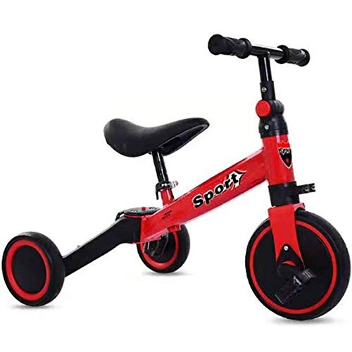 Fenfen-toy Kinder Tricycle Scooter, Kinder Laufrads, Zwei-Rad Fahrrad, Motorroller, Babykleinkind Roller, 1-6 Jahre alte Baby- (Color : Red with Pedals)