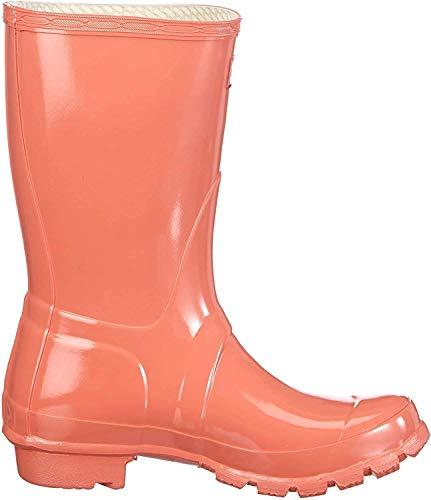 Hunters Original Short Gloss W23700 - Botas de agua de caucho unisex, color rojo, talla 39