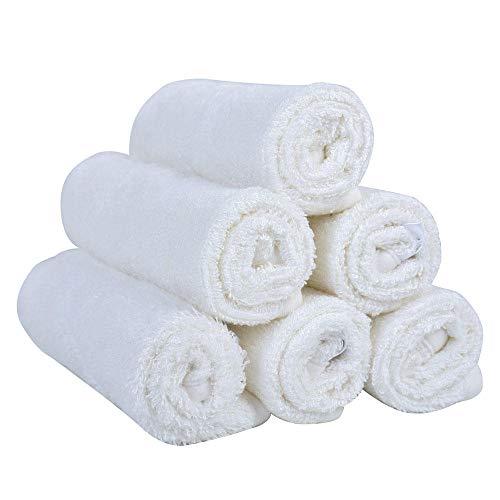 xingshen Paquete de 10 x 10 toallitas de baño Suaves Blancas para bebé, 100% Toallas de bambú, bebés, Kit de baño de Viaje para bebés-MX6001