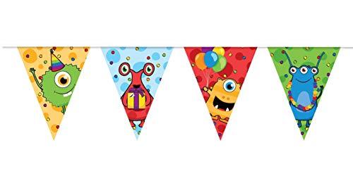 Haza 437801 Vlaggenlijn Monster Party, 10mtr