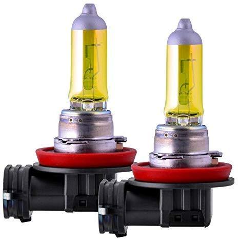 2x H11 AQUA VISION 55W 12V Jurmann GELB YELLOW HALOGEN LAMPEN E-GEPRÜFT JURMANN NEBELSCHEINWERFER ODER ABBLENDLICHT