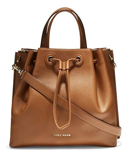 Cole Haan womens Leather Bucket shoulder handbags, Brown, regular US
