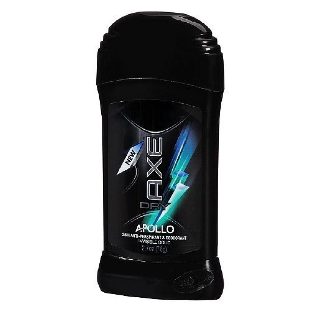ホイスト奇妙なキャンペーンAxe Dry Antiperspirant Deodorant - Apollo - Invisible Solid - Net Wt. 2.7 OZ Each - Pack of 3 by Unilever [並行輸入品]