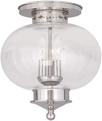 Livex Lighting 5038-01 Harbor 4-Light Ceiling Mount Antique Brass