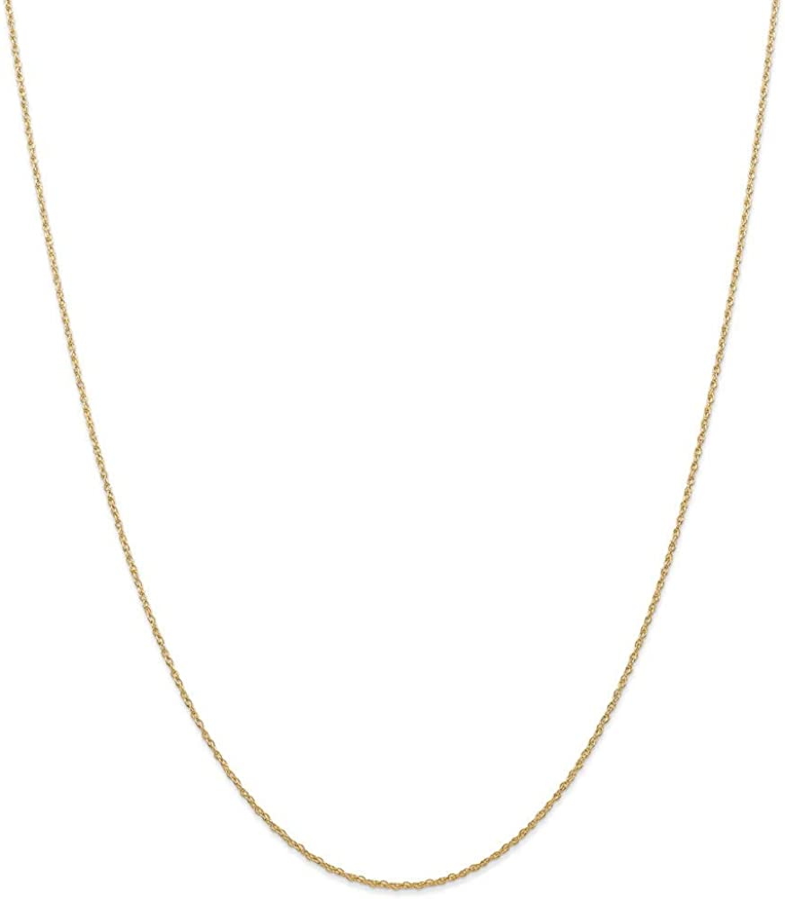 14k Yellow Gold .7 Mm Cable Link Rope Chain Necklace 24 Inch Pendant Charm Carded Fine Jewelry For Women Gifts For Her