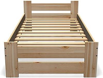 Best For You Cama doble de madera maciza, futón, madera ...