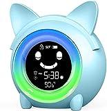 Reloj de entrenamiento para niños, reloj despertador con luz nocturna Coloful, temporizador de siesta, lindo reloj despertador digital para niños pequeños y niñas dormitorio
