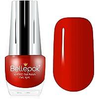 Esmalte de uñas natural, 10 unidades, fórmula ecológica, color rojo Carmen