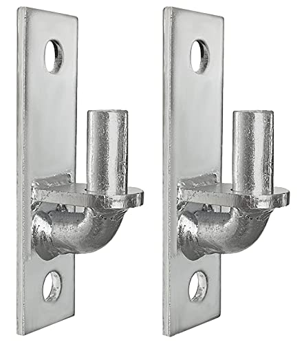 Wall Mount Gate Hinge 2 Pack Chain Link Fence Gate Hinges Fence Post Chain Link Gate Hinge with 5/8 Hinge Pin (Screws Not Included)