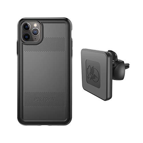 Pelican iPhone 11 Pro MAX Case Protector Series – Grado Militar Probado Caída, TPU Funda Protectora de Policarbonato para Apple iPhone 11 Pro MAX – con EMS Wireless Charging Vent Mount (Negro)