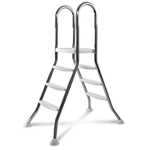 Original ASTRAL Edelstahl Leiter für 0,90-1,00 m Pool - 2X 3 Stufen - hochwertiges V2A