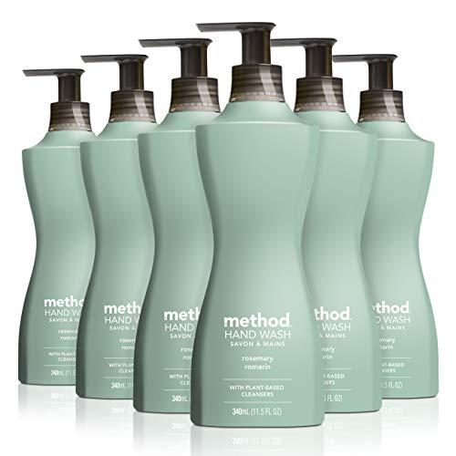 Method Gel Liquid Hand Soap, Rosemary, 6 Count