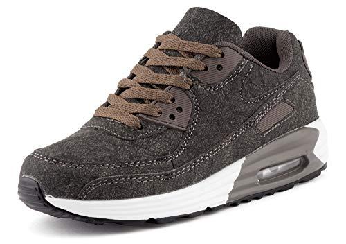 Fusskleidung Unisex Damen Herren Sportschuhe Übergrößen Laufschuhe Turnschuhe Neon Sneaker Schuhe EU Grau Grau 41