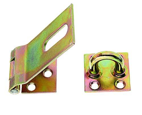GAH-Alberts 348359 Sicherheits-Überfalle | galvanisch gelb verzinkt | Länge Überfalle 85 mm | Breite 37 mm
