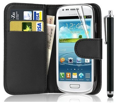 New Leather Wallet Flip Case Cover Pouch for Samsung Galaxy S4 Mini...