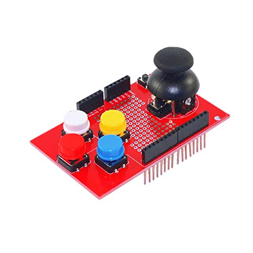 Treedix Joystick Shield Kit Control Joystick Expansion Board Simulated Keyboard and Mouse Functions for Arduino