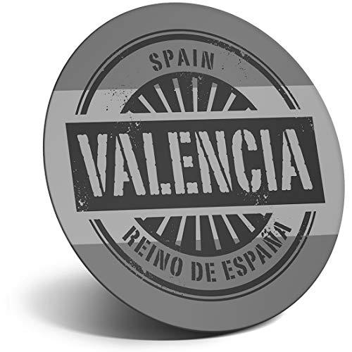 Destination Vinyl ltd Impresionante Imán para Frigorífico BW - Valencia España Reino De Espana Viaje para Oficina, Gabinete y Pizarra Blanca, Pegatinas Magnéticas, 40500