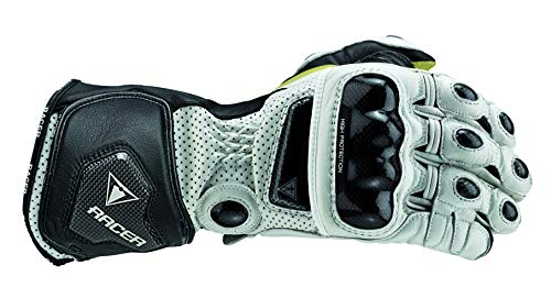 Racer High Racer Handschuh, Weiß, Größe L