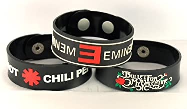 RED HOT CHILI PEPPERS BULLET FOR MY VALENTINE 3PCS New! Bracelet Wristband 3X 12A26A5