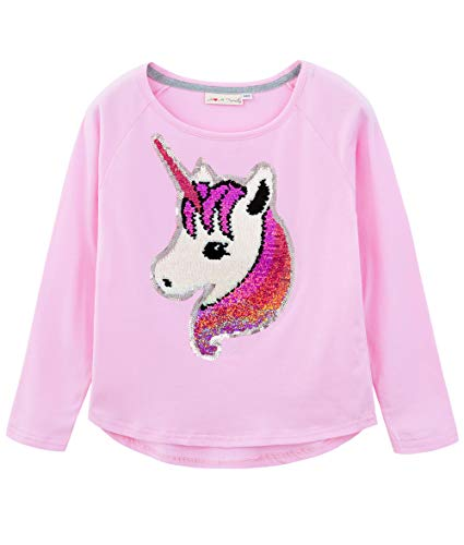 HH Family Flip Sequin Unicorn Shirt Tee for Girls 3-12 Years 4