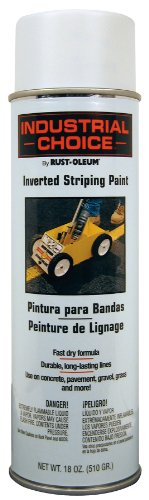 Price comparison product image Rust-Oleum 1691838 S1600 System Inverted Striping Paint Aerosol,  White - Lot of 6