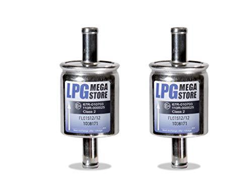 2x Gasfilter 12mm Autogas, LPG, GPL Filter Universal (4,44€ pro Einheit)