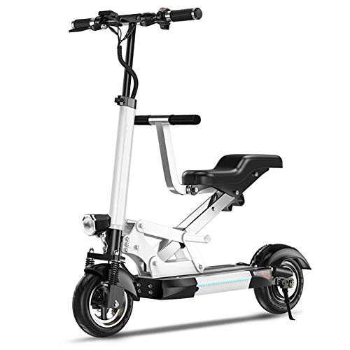Best Bargain LJHHH Folding Electric Bike,Lightweight and Aluminum Folding Bike with Pedals Scooter S...