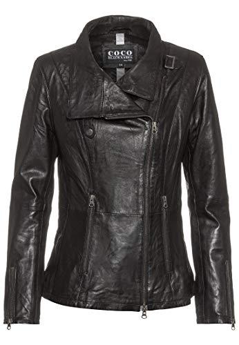 COCO BLACK LABEL since1986 Lederjacke Damen Melissa mit Stehkragen, Farbe:Schwarz, Größe:38