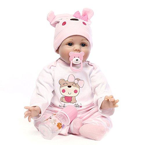 XINYU Reborn Baby Doll Realistic Girl Powder Muñecas para Bebés 15 Pulgadas 40 Cm Realista Toy Children Birthday Gift