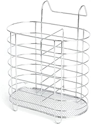 Ghlevo Soporte de Cubiertos Metal Colgante Escurridor Cuchara Tenedor Chopsticks Almacenamiento Cesta Rack Vajilla Organizador Accesorios de Cocina Herramienta