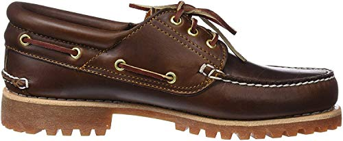 Timberland Authentics 3 Eye Classic, Scarpe da barca Uomo, Marrone (Md Brown Full Grain), 43.5 EU