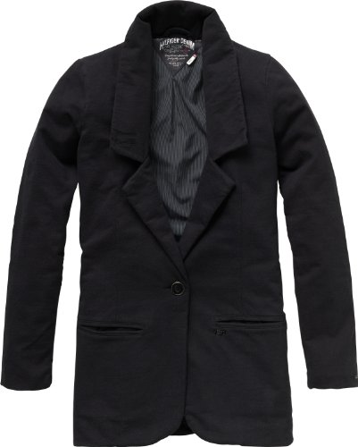 Hilfiger Denim Mujer Blazer Slim Fit, Zadie Boyfriend Blazer L/S/1657605171 Negro (078 Tommy Black) 36 (Small)