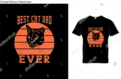 KwikMedia Poster of Best cat dad Ever- Cat T-Shirt. Illustration.Cat Graphics Can be Used for T-Shirts Print, Children wear, Baby Shower Celebration, Greetings, Invitation Card and Poster.Cat Label.