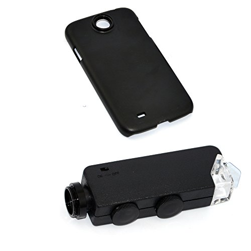 Apexel 100x LED Microscope Jewellery Magnifying Loupe Glass Lens with Back Case for Samsung Galaxy S4
