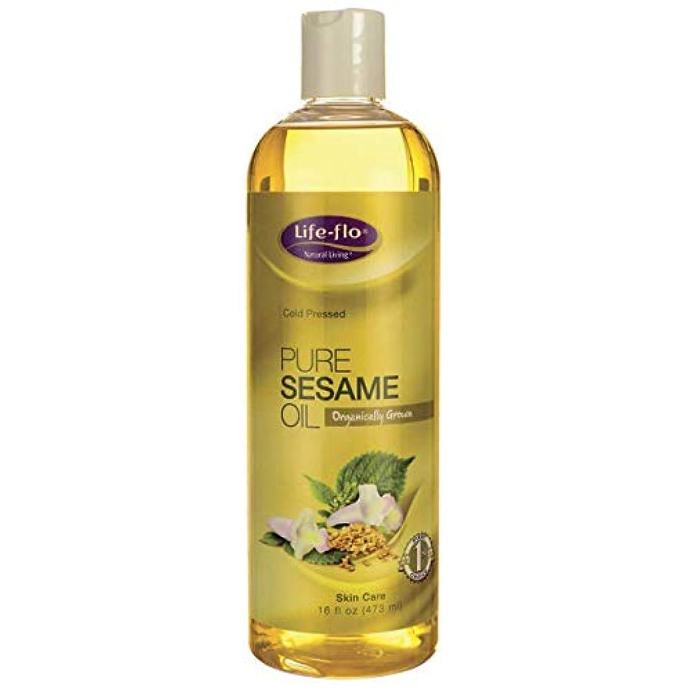 蜂支払い幾分海外直送品Pure Sesame Oil, 16 oz by Life-Flo