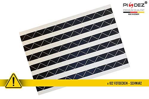 PISDEZ zusätzliche Fotoecken schwarz oder transparent - 102 Stück