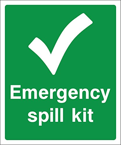 emergency Spill kit Sign – Adesivo adesivo etichetta 200 MMX166 MM