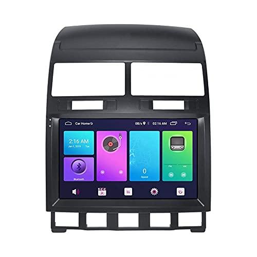 Android Car Stereo Sat Nav para VOLKSWAGEN TOUAREG 2003-2010 Unidad principal Sistema de navegación GPS SWC 4G WIFI BT Conexión de espejo USB Carplay incorporado
