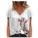 KYLEON Tank Tops for Women Giraffe Print Casual V-Neck...