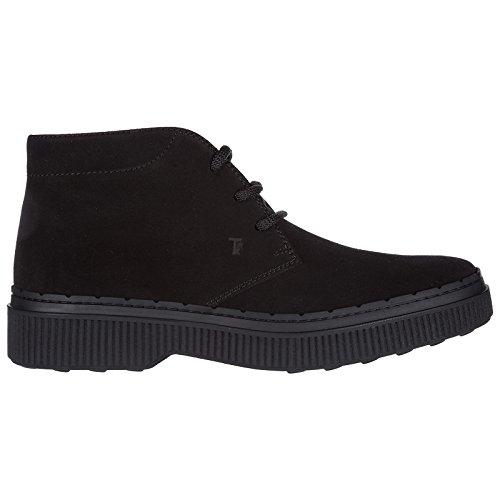 Tod's Botines Zapatos en Ante Hombres Negro
