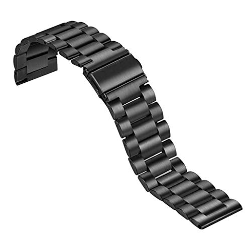 LEXIANG Pulsera de Acero Inoxidable Correa de Reloj Inteligente Hebilla de Doble Broche Correa de Acero Inoxidable sólido para Reloj Inteligente xiao-mi mibro Air