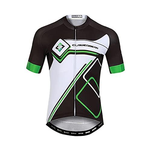 Unkoo Ligero/Elástico/Transpirable Negro Hombres Jersey Camisetas de Verano de Manga Corta Ropa de Ciclismo El más Nuevo Equipo Profesional al Aire Libre Triatlón Top MTB Road Ropa Maillot Ciclism