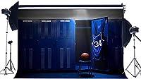 HD ロッカー背景7X5FTビニール更衣室背景バスケットボールスタジアムジャージージムルームインテリアロッカールーム写真の背景アスリート子供学校ゲーム写真スタジオ小道具HKX437
