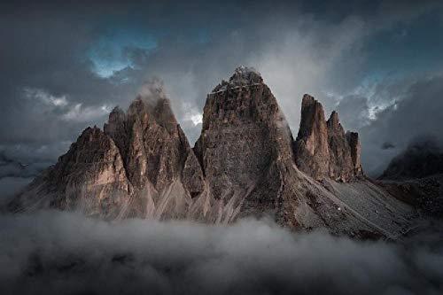 Puzzle 1.500 piezas, Rompecabezas de encastre de Madera, Puzzle Panorama, Obra de Arte de Juego de Rompecabezas para Adultos, Montaña imponente