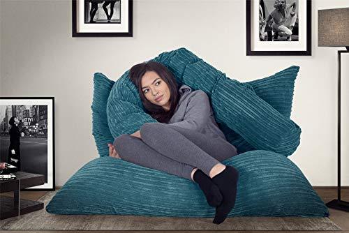 Lounge Pug®, Riesen Sitzsack XXL, Sitzkissen, Cord Türkis - 6