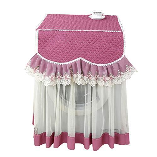 Garneck Waschmaschine Abdeckung Wasserdicht Lace Blume Staubschutz Roller Sonnenschutz-Abdeckung für Wärmepumpentrockner Frontlader Wäschetrockner 60x60x87cm (Lila)
